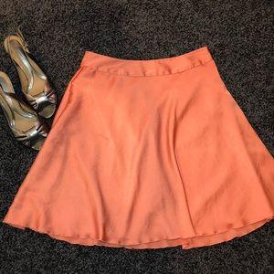 The Limited orange knee-length skirt